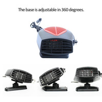 ventilador enfriador 12v al por mayor-DHL 12V 24V 150W Protable auto del coche del calentador de calefacción ventilador de refrigeración parabrisas de la ventana Antivaho Antivaho DESEMPAÑADOR conducción descongelador