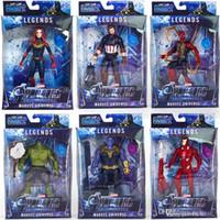 karikatür oyuncakları taşıyor toptan satış-Yeni varış Avengers 4 Marvel Eylem Sürpriz Kaptanları Thanos bebek ışık ve hareketli Karikatür oyuncaklar ile Ses Şekil