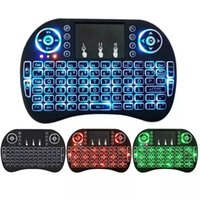 android keyboard qwerty touch großhandel-Rii I8 Fly Air Mouse 2.4G Bunte Hintergrundbeleuchtung Hintergrundbeleuchtung Wireless Touchpad Keyboard Multifunktions für PC Pad Android TV Box MXQ V88 X96