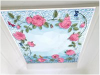 Wholesale 3d mural wallpaper flower for home for sale - Group buy Custom ceiling mural wallpapers d ceiling wallpaper Idyllic flower zenith ceiling mural wall papers home decor