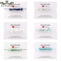 Wholesale bohemian korea jewelry for sale - Group buy 2020 New Korea Natural Gravel Stone Bracelets Colorful Handmade Weave Braided Rope Bracelets For Women Men Summer Beach Jewelry Gift