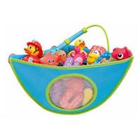 banyo oyuncakları saklama toptan satış-Çocuklar Banyo Oyuncakları Saklama Çantası Çocuk Banyo Su Geçirmez Banyo Oyuncakları Koleksiyonu Organizatör Asılı Duvar Çantası RRA336