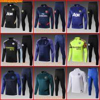 Wholesale full uniforms soccer resale online - Manchester training suit city spurs MAN pepe Ajax soccer jersey football tracksuit sweater jogging uniforms chandal survêtement