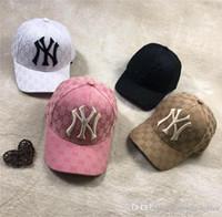 gorras de streetwear al por mayor-19ss lujoso diseño de marca NY bordado Logos gorras hombres mujeres moda gorra de béisbol sombrero Streetwear Snapbacks al aire libre