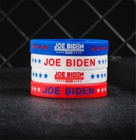 Wholesale rubber bangle bracelets resale online - Joe Biden for President Wristband Silicone Bracelet Unisex Rubber Bracelets Wristband Bangles USA America Voting Accesseries D7211
