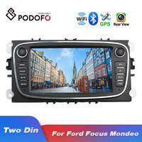 dvd gps radio ford mondeo al por mayor-Podofo Android 8.1 GPS del coche Radios 2 din coche reproductor multimedia 7 '' de audio reproductor de DVD para Ford / Focus / S-MAX / Mondeo 9 / GalaxyC-Max