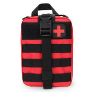paquetes de molle al por mayor-Bolsa de Kits de Emergencia Durable Kit de Primeros Auxilios Médicos Tácticos Paquete de Cintura Militar Al Aire Libre Viajes Camping Tactical Molle Pouch 2019