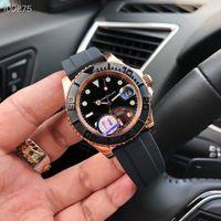 relojes mecánicos de importación al por mayor-Relojes de hombre de moda clásica de lujo 40mm serie negra de la semana reloj para hombre movimiento mecánico importado Reloj impermeable envío gratis