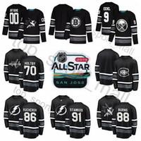 ingrosso nero nhl-Maglia NHL All Star 2019 Nikita Kucherov Steven Stamkos Patrick Kane 9 Jack Eichel Braden Holtby 65 Erik Karlsson Prezzo Carey Nero