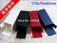 темно-картон оптовых-7.5 * 6 * 17 см Красная бумага солнцезащитные очки упаковочные коробки, белые черные темно-синие бумажные картонные коробки, 25 шт. / Лот черные упаковочные коробки