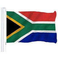 latón sur al por mayor-90x150cm Sudáfrica Flag precio barato de poliéster Imprimir banderas nacionales colgantes de vuelo con dos anillos de bronce