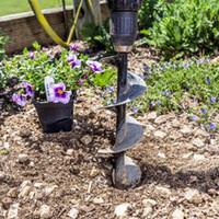 Wholesale flower garden bedding resale online - Garden Auger Spiral Drill Bit Roto Flower Planter Bulb HEX Shaft Drill Auger Yard Gardening Bedding Planting Hole Digger Tool