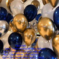 Wholesale valentines latex balloons resale online - 12 Inches Metal Gold Silver Latex Balloons Transparent Valentine s Balloon Wedding Birthday Party Ballons ballon anniversaire