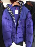 outdoor com capuz parka venda por atacado-Jacket Inverno de Down Homens New 90% Brasão branco Goose Down qualidade superior encapuçado homem Maya outdoor roupa masculina para baixo Parkas para homens