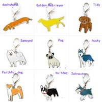 Wholesale 25 mm pendants resale online - 2019 mm lovely design Metal pet Dachshund collars chain Pendant for small cat dogs Necklace Pendant Pet decoration