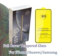 espejo de gafas templado iphone al por mayor-9D Mirror Tempered Glass para Redmi Samsung iPhoneXs Max Xiaomi Nokia Huawei LG Pantalla de cubierta completa Protector de pantalla