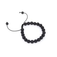 chinesisches porzellanarmband großhandel-Schwarz Lava Naturstein Perlen Armbänder für Frauen Vintage Design Vulkangestein Tigerauge Perle Strang Armband Männer Schmuck Geschenk