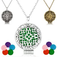 Wholesale clover shaped necklaces for sale - Group buy Aromatherapy Essential Oil Diffuser Necklace Hollow Lucky Heart Shape Clover Locket Pendant Aroma Necklaces Styles Christmas Gift B429Q F