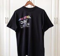 top camisa de algodón para hombre al por mayor-Primavera verano 2019 Lujo Europa París 1854 No está en casa Kansas Winds Camiseta de alta calidad Moda Hombres Mujeres Camiseta Algodón Casual Top
