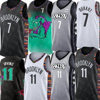 camisa de basquete durant venda por atacado-7 Kevin Durant Jersey Kyrie NCAA 11 Irving jersey Colégio 2019 atacado New Black White Basketball Jerseys baratos
