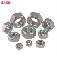 Wholesale a2 stainless steel resale online - DIN934 M1 M1 M2 M2 M3 M4 M5 M6 M8 M10 M12 M14 M16 M18 M20 Stainless Steel A2 Metric Thread Hex Nut Hexagon Nuts