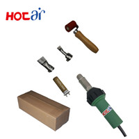 Wholesale welder free shipping for sale - Group buy New Hot Air Welding Heat Gun Kits V V W Hand Plastic Welder Of Hot Air Tools