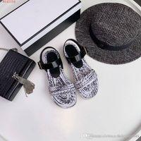 рыночная мода оптовых-Новый стиль на рынке, женская модная обувь, красочные тканые сандалии, удобный повседневный стиль, размер 35-40