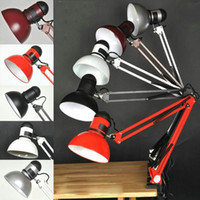 Wholesale Good Quality Assurance Iron American Table Lamp Foldable Long Arm Book Reading Lights E27 Clip Desk Lamp