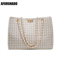 Wholesale fashion handbags channel for sale - Group buy Luxury Handbags Women Bags Designer Canvas Knitting Shoulder Bags Fashion Ladies Channels HandBags Crossbody Bags For Women T190918