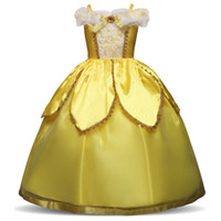 Wholesale cosplay costumes beauty beast resale online - 4 Y Beauty And Beast Christmas Dress For Girl s Princess Halloween Costume Party Cosplay Children Dresses Aurora Dress