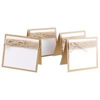 cartões de casamento rústicos venda por atacado-Cartões de Lugar de Mesa de Nome de Festa Convidado AFBC para Shabby Chic Pacote de Casamento Rústico de 10