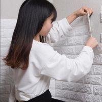 Wholesale kids decor rooms resale online - 3D Wall PE Foam Stickers Brick Pattern Waterproof Self Adhesive Wallpaper Room Home Decor For Kids Bedroom Living Room Stickers
