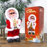 juguetes bailando santa al por mayor-Eléctrica de Santa Claus muñeca Baile del canto de música de juguete automática de Navidad linda muñeca de la felpa Merry Christmas Decorations nueva GGA2801