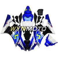yamaha yzf r6 blau großhandel-Movistar White Blue Karosserie für Yamaha YZF-600 R6 Baujahr 2006 2007 06 07 Vollplastik Verkleidungsteile R6 06 07 ABS Kunststoff-Spritzgusskörper