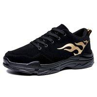 zapatos coreanos de fondo grueso al por mayor-Zapatos de marea de los hombres súper fuego Ins zapatos deportivos coreanos fondo grueso aumento de gran tamaño de los hombres zapatos de marea de moda negro A23