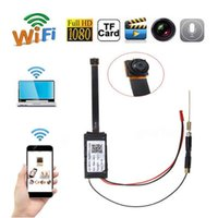 ağ video güvenliği toptan satış-S06 1920 * 1080 P Mini Ağ Kamera Ev Güvenlik HD Video Kamera Wifi P2P DIY Modülü Mini DV Dadı Kam DVR Kablosuz IP Gözetim kamera