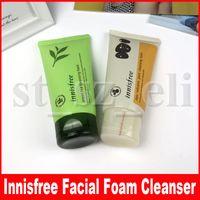 gesichtsreinigung cremes großhandel-INNISFREE Jeju Volcanic Pore Reinigungsschaum Grüner Tee Reinigungsreiniger Gesichtsschaum Gesichtscreme 150ml