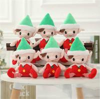 shelf elf venda por atacado-Natal Elfo De Papai Noel Brinquedos De Pelúcia 30 cm Bonito Espírito de Natal Boneca Elf Na Prateleira de Natal Boneca De Pelúcia Brinquedo De Pelúcia Brinquedos Elfos de Santa Deco