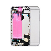 10pcs Full Housing Assembly Battery Cover Door Rear with Flex Cable For iphone 6 6G 6S Plus metal Back Middle Frame Chassis