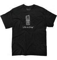 ingrosso servizi di vita di qualità-La vita è schifo nessun servizio Camicia divertente Idea regalo carino T-shirt cool per cellulare T-shirt di alta qualità classica