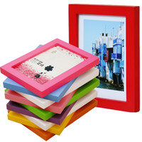 Wholesale high definition wall resale online - 5 inch Picture Frames Made of Solid Wood High Definition Glass for Table Top Display and Wall mounting photo frame