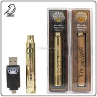 Wholesale variable pen for sale - Group buy Brass Knuckles Vape Battery mAh mAh Wood Gold Preheat BK Vape Pen Variable Voltage Vape Kit With USB Charger For Thread Cartridges