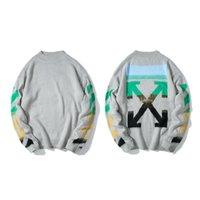 mujer de punto xl al por mayor-19ss Jerseys de manga larga para hombre des Crew Neck Pullover Cotton Knitwear Hip Hop Skateboard Cool Sweatshirt Winter Men Women Casual White Coat