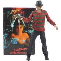 figura freddy venda por atacado-Neca 18cm Um Pesadelo Em Elm Street Freddy Krueger Freddy's Nightmares Figura Coleção Brinquedos Y19062901