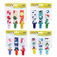 Wholesale plastic packing straps for sale - Group buy Dummy Clips Baby Pacifier Clips Pack Pacifier Holder Straps for Girls Plastic Teething Clips Modern Unisex Design