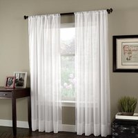 Wholesale modern fabric curtains resale online - Soild White Tulle Sheer Window Curtain for Living Room The Bedroom Decoration Modern Tulle Organza Curtains Fabric Blinds Drapes