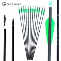 "6pcs 8.0mm Arrow Shaft SP500 30/"" Fiberglass Arrow for Composite Bow Archery Hunt"