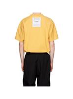 parches de la camisa de los hombres al por mayor-Primavera verano 2019 Vetements de lujo Volver parche de alta calidad de la camiseta de moda los hombres de las mujeres usan la camiseta interior-hacia fuera de algodón camiseta superior