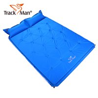 Wholesale self inflating camping mats for sale - Group buy 2 Person Portable Self Inflating Camping Mats Outdoor Sleeping Pad with Attached Pillow for Camping Backpacking Mat Pillow