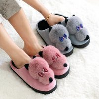 Wholesale special slippers resale online - New winter indoor cartoon cotton slippers fashionable women s non slip and warm lovely slippers special price